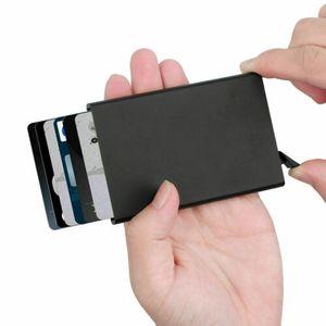 RFID Kreditkartenetui Blocker Schutz Aluminium Geldbörse Kreditkarten Kartenetui