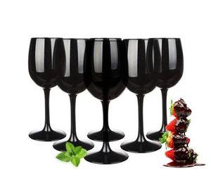 Weingläser Set 300ml im 6er-Pack Schwarze Rotweingläser Weißweingläser Weinkelch