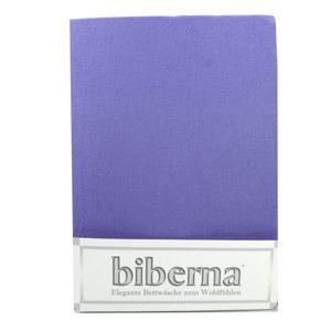 Biberna 02744-256 Feinbiber Spannbetttuch Taubenblau 90x190 100x200