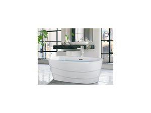 Freistehende Badewanne 150 x 72 x 58 cm Design DOMINIKA - 200 L - Weiß