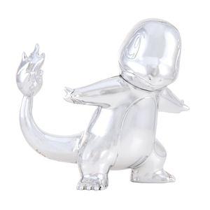 Pokémon - Select Battle Figur - Glumanda silber - 25 Jahre Pokémon Jubiläums-Figur
