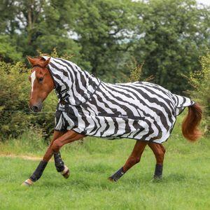 Bucas Buzz-Off & Neck - Zebra, Größe:145