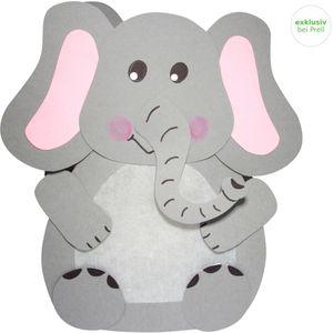 Laternen Bastelset Elefant, 4 Stück