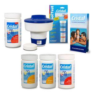 CRISTAL Poolpflege-SET Chlor 4,8 kg für Pools ab 15m³