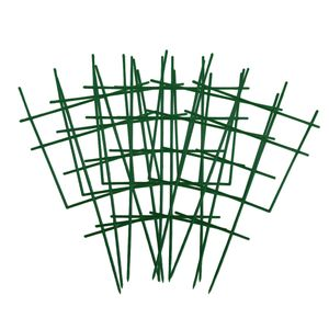 DIY Garten-Pflanzenstütze, 6 Stück Kunststoff-Pflanzen-Spalier, Topfpflanzen-Rankhilfe für Mini-Kletterpflanzen, Rankgitter