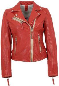 Gipsy - Damen Lederjacke Bikerjacke Lammnappa rot : XL