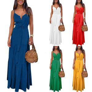 Sexy Damen-Strumpfknopf-Kleid Mit V-Ausschnitt,Farbe: Blau,Größe:XL
