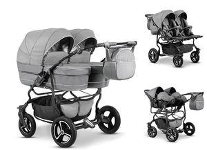 Zwillingskinderwagen Duet Lux 3 in 1 (D-03) - Kinderwagen, Sportsitze und Autositze
