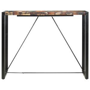 Bartisch 140 x 70 x 110 cm Recyceltes Massivholz Esszimmertisch für 4-6 Personen