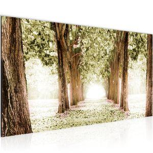 Wald Landschaft BILD 100x40 cm − FOTOGRAFIE AUF VLIES LEINWANDBILD XXL DEKORATION WANDBILDER MODERN KUNSTDRUCK MEHRTEILIG 605612c