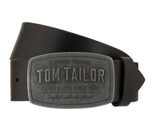 Tom Tailor Männer Leder Koppel Gürtel Belt Schwarz TG1060R01-0791, Länge:100 cm