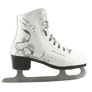 Damen Eiskunstlauf Schlittschuhe Nils Extreme NF496S weiß-grau Gr. 38
