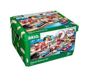 BRIO World - 33052 Straßen & Schienen Bahn Set Deluxe