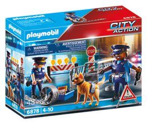 PLAYMOBIL City Action 6878 Polizei-Straßensperre
