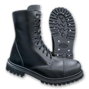 Brandit - Phantom Boots 10 Loch Schuhe mit Stahlkappe Schwarz Größe 45 (UK11)