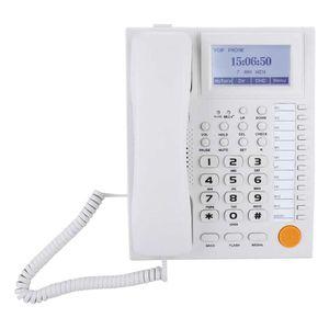 Mllaid Schnurgebundenes Telefon, Großtasten-Telefon mit LCD-Display, Freisprecheinrichtung mit Anrufer-ID-Funktion, Rauschunterdrückung Telefon mit klarem Klang für Home Office Hotel