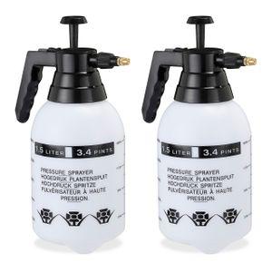 relaxdays 2 x Pumpsprühflasche Drucksprüher Drucksprühgerät Gartendruckspritze Handspritze