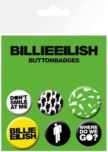 GB Eye - Billie Eilish Stickman - Ansteckbutton-Set, 6 -teilig