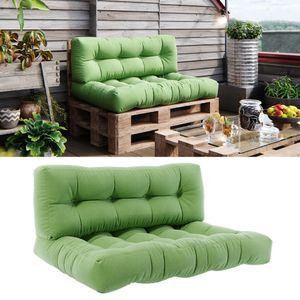 Vicco Palettenkissen Set Sitzkissen + Rückenkissen 15cm hoch Palettenmöbel Flocke grün