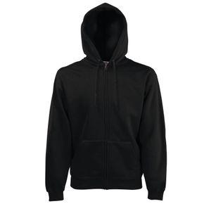 Fruit of the Loom Classic Hooded Sweat Jacket, Farbe:schwarz, Größe:S