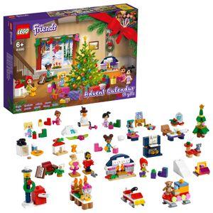 LEGO 41690 Friends Adventskalender 2021 mit Weihnachtsspielzeug für Jungen und Mädchen mit 5 Mikropuppen Weihnachtsgeschenke für Kinder