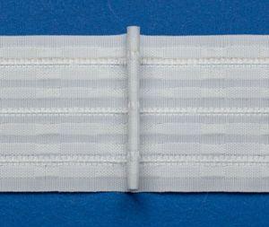 rewagi  5 Meter  Stehfalten, Gardinenband, Gardinenzubehör - Breite: 70mm Stoffverhältnis 1:2.0  L040