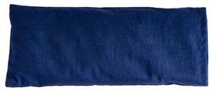 Augenkissen blau aus 100% Baumwolle  Außenbezug waschbar Leinsamen und Lavendelblüten