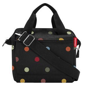 reisenthel allrounder cross dots 4 L - crossbodybag schwarz bunte Punkte - Dots Black