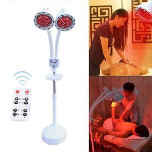275W Infrarotlampe Wärmelampe Strahler mit Rädern Schönheitssalon Stand Rotlicht Massagelampe Infrarot Tpielampe