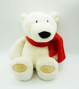 Nici 25960 Eisbär mit rotem Schal 35cm Plüsch Schlenker Kuscheltier Winter