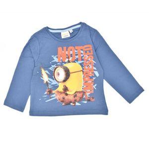 Minions T-Shirt mit langen Ärmeln, 100% Baumwolle, blau 98