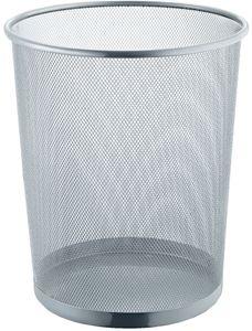 helit Papierkorb Mesh aus Drahtmetall 15 Liter silber pulverbeschichtet