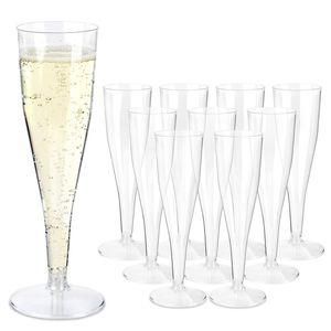 Schramm® 50 Stück Mehrweg Sektgläser Sektglas Champagner Glas Sektflöten Sektkelch Stielglas Champagner Gläser Plastik