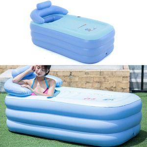 Badewanne Aufblasbare Tragbare Luftbadewanne PVC-Klappbadewanne Planschbecken für Erwachsene Pool Reise Wanne Outdoor PVC SPA Dampfbad