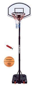 Hudora 71626 Basketballständer Hornet 260 mit Ball und Pumpe