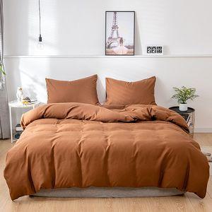 Bettwäsche Einfarbig Mikrofaser Bettwäsche-Sets - 1 mal Bettbezug 200x200cm und 2 mal Kissenbezug 50x70 cm