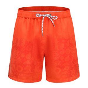 Herren Aquarellwechsel Badehose Strandhose Warme Farbwechsel Shorts Größe:S,Farbe:Grau