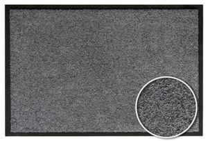 Fußmatte waschbar 60 x 90 cm Schmutzfangmatte Grau Türmatte Türvorleger Bodenschutzmatte für den Eingangsbereich