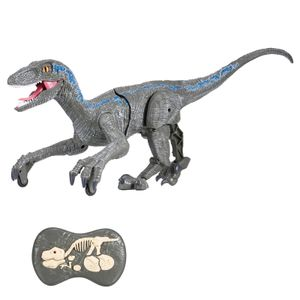 SM180 Fernbedienung Dinosauria Velociraptor Spielzeug Big Walking Velociraptor LED Licht Brš¹llen 2,4 GHz Simulation RC Velociraptor Geschenk fš¹r Kinder Jungen