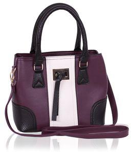 Kleine violett-beigefarbene Handtasche