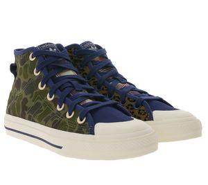 adidas Originals Nizza High Top Sneaker modische Basketball-Schuhe für Damen im Mustermix Mehrfarbig, Größe:40
