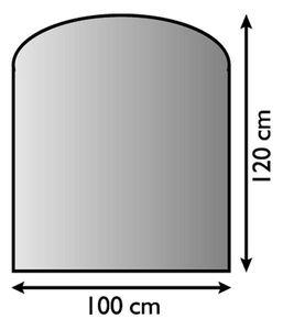 Funkenschutzplatte / Bodenblech Lienbacher schwarz Segmentb. 100x120cm