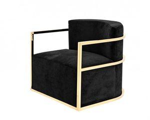 Casa Padrino Luxus Designer Art Deco Hotel Salon Sessel Gold - Luxus Qualität