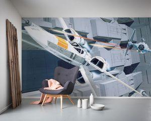 "Komar Vlies Fototapete ""Star Wars Classic RMQ X-Wing vs TIE-Fighter"" - Größe: 500 x 250 cm (Breite x Höhe), 10 Bahnen"