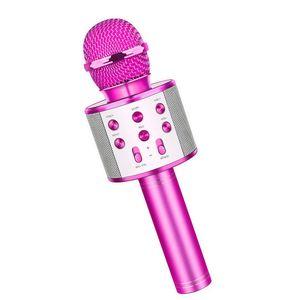 Karaoke Mikrofon, Bluetooth Mikrofon Kinder, Drahtlose Tragbares Microphon mit Lautsprecher Aufnahme für Erwachsene und Kinder, Kompatibel mit Android IOS PC (Lila)