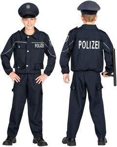 Widmann 02005 Kinderkostüm Polizist, Jungen, Schwarz, 116 cm