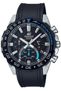 Casio Chronograph Herren Uhr In Schwarz/Schwarz|EFS-S550PB-1AVUEF