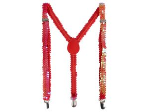 Pailletten Hosenträger bunt Unisex Y-Form 3-Clips , Variante wählen:Pailletten rot bunt