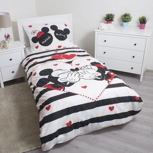 Minnie Mickey Maus Disney Jugend Bettwäsche 135 - 140x200 cm Duvet Set Baumwolle