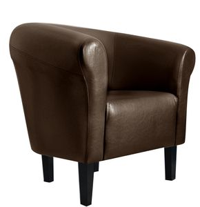 """Sessel Clubsessel Loungesessel Cocktailsessel  """"Monaco 2"""" Braun W364 04"""